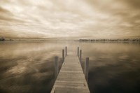 Dock at Crooked Lake, Conway, Michigan 09 Fine Art Print