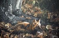Autumn Leaves- Red Fox Fine Art Print