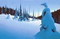 Snowy Dawn Fine Art Print