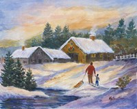 After the Sleigh Ride Fine Art Print