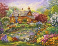 Summer Cottage Fine Art Print