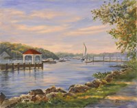 Before Sunset At Northport Fine Art Print