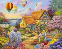 Spring In Grandmas Garden Fine Art Print