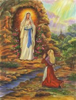 Our Lady Of Lourdes Fine Art Print