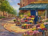 Fleuriste Flower Market Paris Fine Art Print