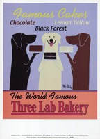 Three Lab Bakery Framed Print