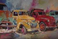 Trucks In Montrose Fine Art Print