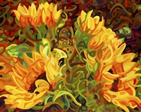 Four Sunflowers Fine Art Print