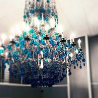 Blue Chandelier Fine Art Print