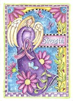 Breast Cancer Awareness: Strength Angel Fine Art Print