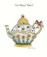 Bee Happy Teapot Fine Art Print