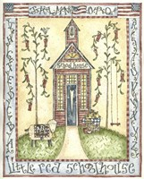 Little Red Schoolhouse Fine Art Print