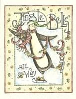 Jingle Bells Penguin Fine Art Print