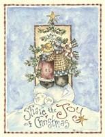 Share The Joy Of Christmas Penguins Fine Art Print