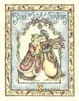 Share The Love Of Christmas Penguins Fine Art Print