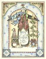 Merry Christmas To All Penguins Fine Art Print