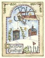 Spreading Christmas Joy Penguin Fine Art Print