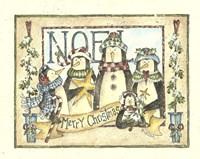 Noel - 4 Penguins Fine Art Print