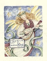 Angel With Guitar Glory To The King Fine Art Print