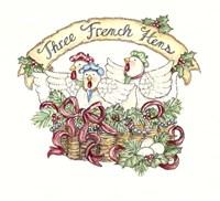 Three French Hens Fine Art Print