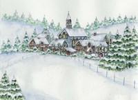 Country Setting Winter Fine Art Print