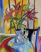 Lilies On The Table Fine Art Print