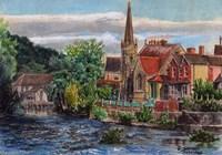 Llangollen Methodist Church Wales UK Fine Art Print