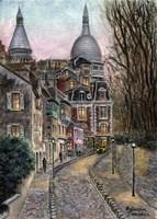 Monmartre Rue de l' Abreuvoir from Placed Dalida Fine Art Print