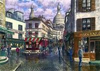 Montmartre A Break In The Storm Fine Art Print