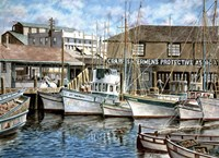 San Francisco Fishrman's Wharf 1941 Fine Art Print