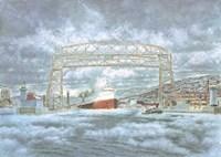 Edmund Fitz Leaving Dock Fine Art Print