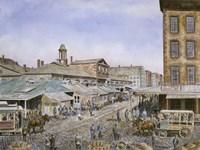 Fulton Market,  NYC.1876 Fine Art Print