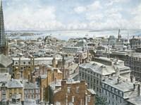 Boston,  East From St. House 1876 Fine Art Print