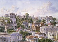 Los Angeles, Bunker Hill From Congretional Church c.1898 Fine Art Print