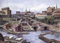 Lockport NY, Lockport 5's, c.1865 Fine Art Print