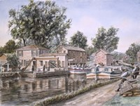 Weigh Locks On Penn Canal Fine Art Print