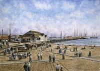 Mcfadden Wharf, CA, c.1900 Fine Art Print