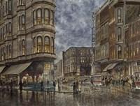 Dinner Hour, San Francisco, Ellis & Market St. Fine Art Print