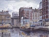 Tugboats And Tenements Fine Art Print