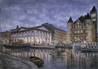 Syracuse,  The Weighlocks And City Hall Fine Art Print