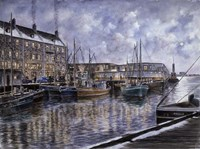 Boston,  The Commercial Wharf Fine Art Print