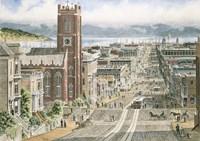 Their Sunday Best,  California & Dupont In San Francisco Fine Art Print