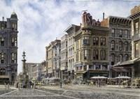 San Francisco,  Latta's Fountain, Market & Geary Sts. Fine Art Print