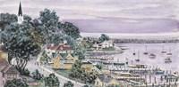 Sunset, East Bay Mackinac Fine Art Print