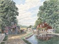 Summertime, Morris Canal Fine Art Print