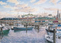 Fisherman's Wharf Sunset Fine Art Print
