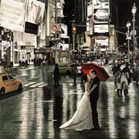 Romance in New York Fine Art Print
