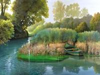 Sul fiume Fine Art Print