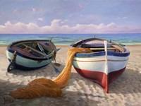 Barche sulla Spiaggia Fine Art Print