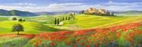 Verso il Borgo in Toscana Fine Art Print